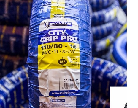 Vỏ Michelin City Grip Pro 110/80-14 STD-718 Michelin