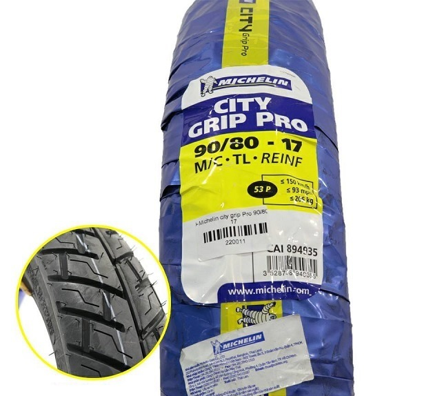 Vỏ xe Michelin City Grip Pro 90/80-17 STD-721 Michelin