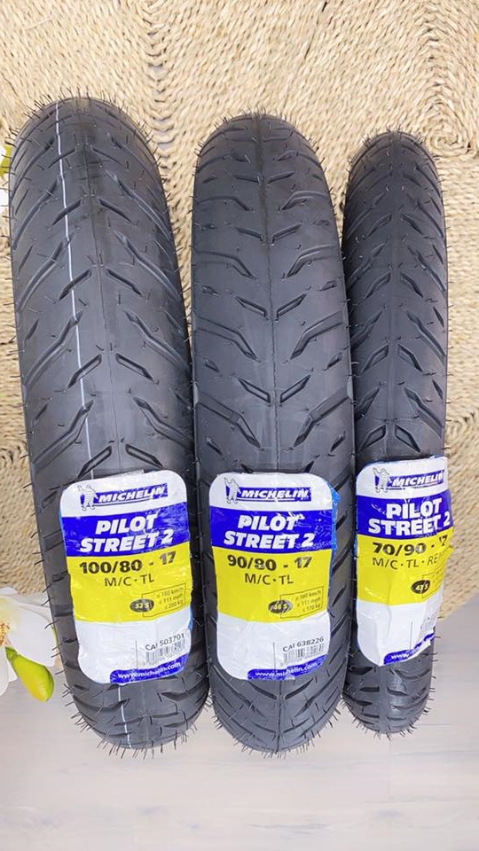 Vỏ Michelin 100/80-17 Pilot Street 2 STD-1339 Michelin